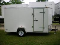 Brand new white 6x12 enclosed trailer. This trailer is