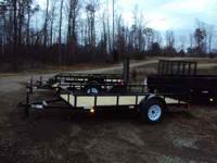 """new 6x12 3,500 lb axle,treated wood floor,15"""" tires"""