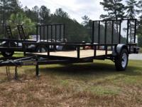 NEW 6x12 HD UTILITY TRAILER WITH 4FT REAR RAMP GATE