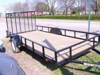 THIS IS A NEW 6X14 CARRY ON UTLITY LANDSCAPE TRAILER