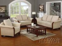Brand NEW 7040 Modern Microfiber Sofa Set Price $1099