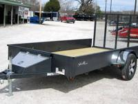 NEW!!!!76x12 Custom Stealth Utility Trailer-Hammertone