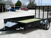 NEW!!!!76x12 Stealth Utility Trailer-Black FEATURE: