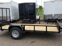 77 x 10' Single Axle Trailer with 4' Rear Tailgate Full
