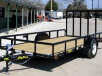NEW!!! 77X14 BigTex Single Axle Utility Trailer--Black