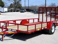 NEW!!!!77X14 BigTex Single Axle Utility Trailer--Red