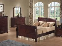 NEW Queen bedroom set for only $745. Includes sleigh