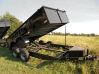 New 7x14 Dump Trailer by Cross, heavy duty design,