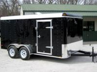 NEW!!! 7x14 Tandem Axle Cargo Trailer with Rear Ramp