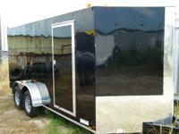 New 7x16 tandem axle trailers for sale. These trailers