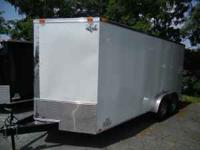 2011 KING AMERICAN 7X16 ENCLOSED TRAILER 7,000 gvw