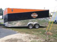 Nice 7x18 tandem axle trailer with slant pattern and