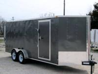 NEW!!!!7x18 V-Nose Tandem Axle Cargo Trailer with Rear