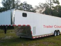 NEW 2015 8.5 X32 ENCLOSED GOOSENECK CARGO TRAILER. Up