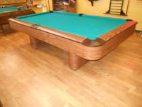NEW 8' OV NATIONAL POOL TABLE  46X92 PLAYING AREA  3
