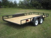 New 83x16 foot utility trailer. New 15 inch wheels and