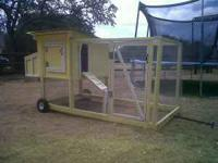 Brand new Chicken coop on wheels (with handle) for easy