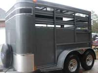 Brand New 2010 Adams 2 Horse Stock Trailer, only used