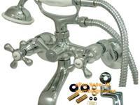 Brand New Adj Wall & Tub Mount ClawFoot Tub Faucet w