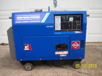 This is a NEW Air-Cooled Silent Diesel Generator, 60HZ,