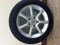 Four (4) High Performance Bridgestone SNOW tires used