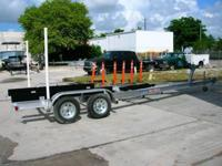We manufacture Custom Aluminum Boat Trailers as much as