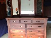 Brand New Amish Made Solid Cherry Bedroom Set. (Price
