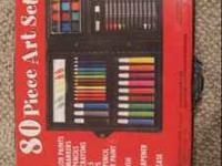 This is a brand new, unopened 80 piece Art Set comes