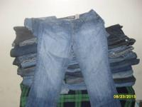 I HAVE NEW AND USED BLUE JEANS FOR SALE AND YOU CAN
