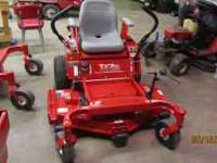 I have new Country Clipper Zero turn mowers and can get
