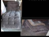 New Armless Chaise Lounge ? Charcoal or Mocha Fabric I