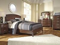 . New Ashley 3 piece set consists of headboard, mirror