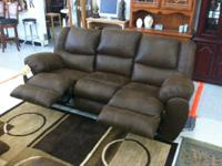 BRAND NEW BROWN SOUTHWESTERN SOFA AND LOVE SEAT SET
