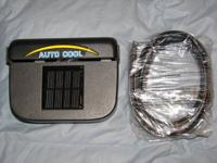 Up for sale is a new SOLAR POWERED AUTO COOL AIR VENT.