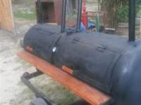 This is a new bbq grill on trailer it is very heavy