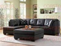 Brand New Leather Sectional Sofa. Comes with the 2