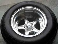 TWO REAR BILLET SPECIALTIES WHEELS - 15X12 J1150, USA