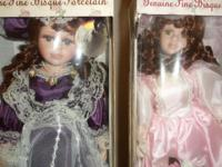 Beautiful brand-new bisque porcelain dolls. Lots of