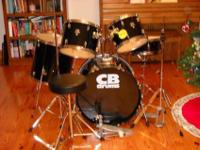 This is a brand new black 5 piece CB Percussion drum