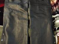 This is a nice heavy pair of Leather chaps that have