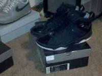 For sale Black on Black Jordan Airs. Size: 11.5. Worn