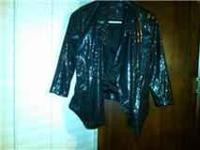 I am selling this New Black Sequence Jacket. Very Nice