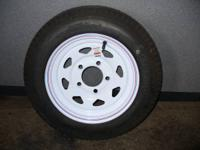 NEW Boat Trailer Tire & Rim sale: 480x12, 5 bolt Tire &