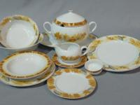 Up for sale is a NEW Bohemia Thun 1794 Dinner set for 6