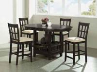We have several dining sets to choose from in all the