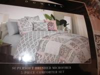 NEW BROWN AND PINK COMFORTER SET   1 FULL/QUEEN