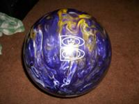 Brunswick TZone Groovy Grape Bowling Ball - Purple
