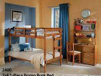 This is a new (still boxed) solid wood bunk bed. It