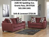 New Wine red Couch Set (New With Warranty).  Economical