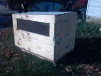 New calf/sheep box for back of truck. Used once. Works